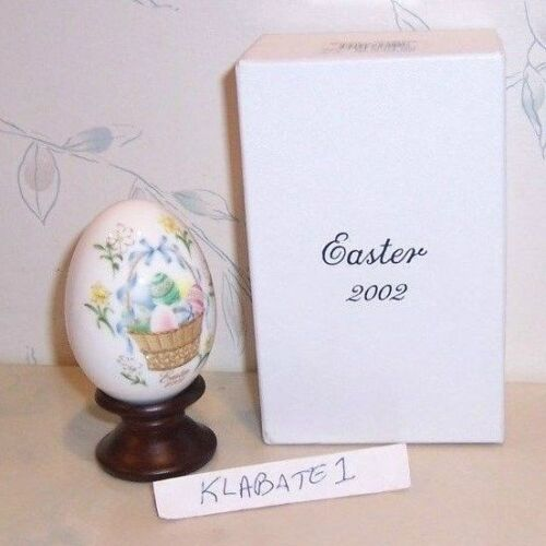 Ltd Ed /& STAND NEW IN BOX NEW Noritake ANNUAL 2002 Easter Egg BUNNY basket