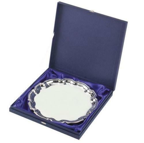 Silver Plated Salvers in 3 Sizes,Free Engraving up to 60 Letters Gift Box Option