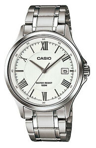 Casio-MTP1383D-7A-Men-039-s-Standard-Stainless-Steel-Analog-Roman-Silver-Dial-Watch