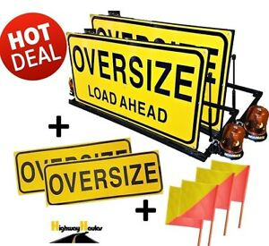 SALE-RRP-1600-Pilot-Vehicle-Escort-Oversize-Load-Ahead-Sign-MANUAL-PACKAGE