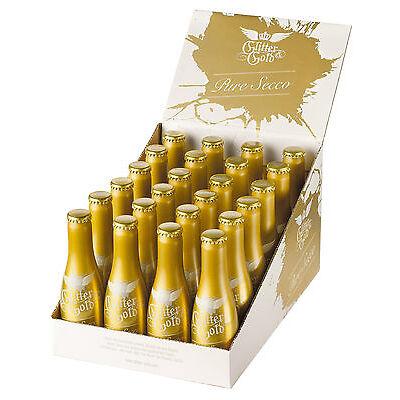 24 GLITTER & GOLD PURE SECCO Sekt Aluflaschen 10 % Alc. inkl. GRATIS Zugaben!!
