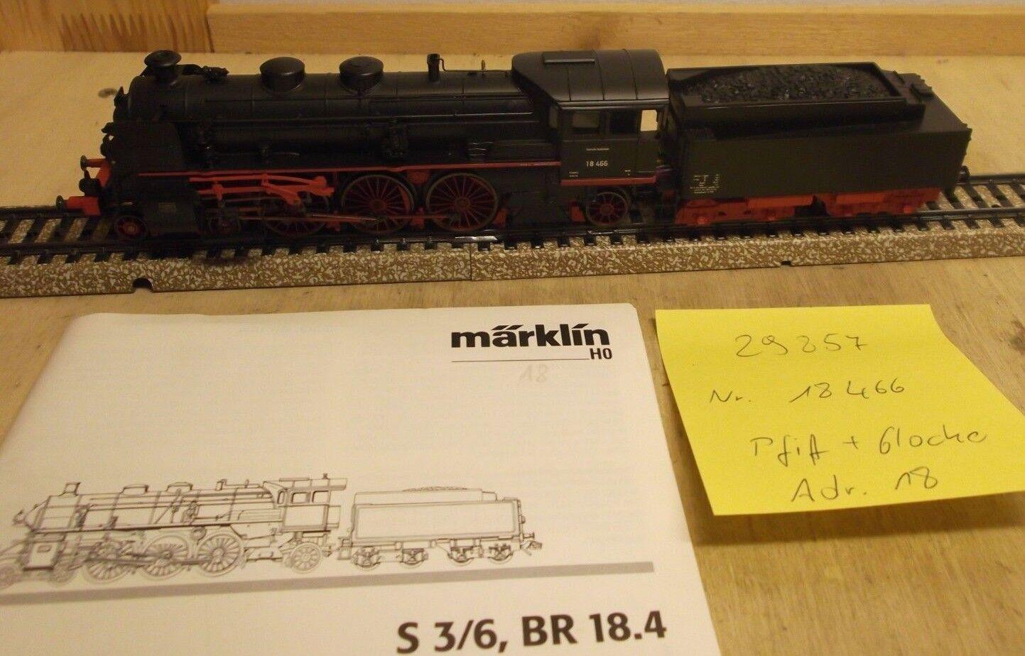 H0 29857 Locomotiva a Vapore Br 18 466 Db Digital Sound  Lokpfeife