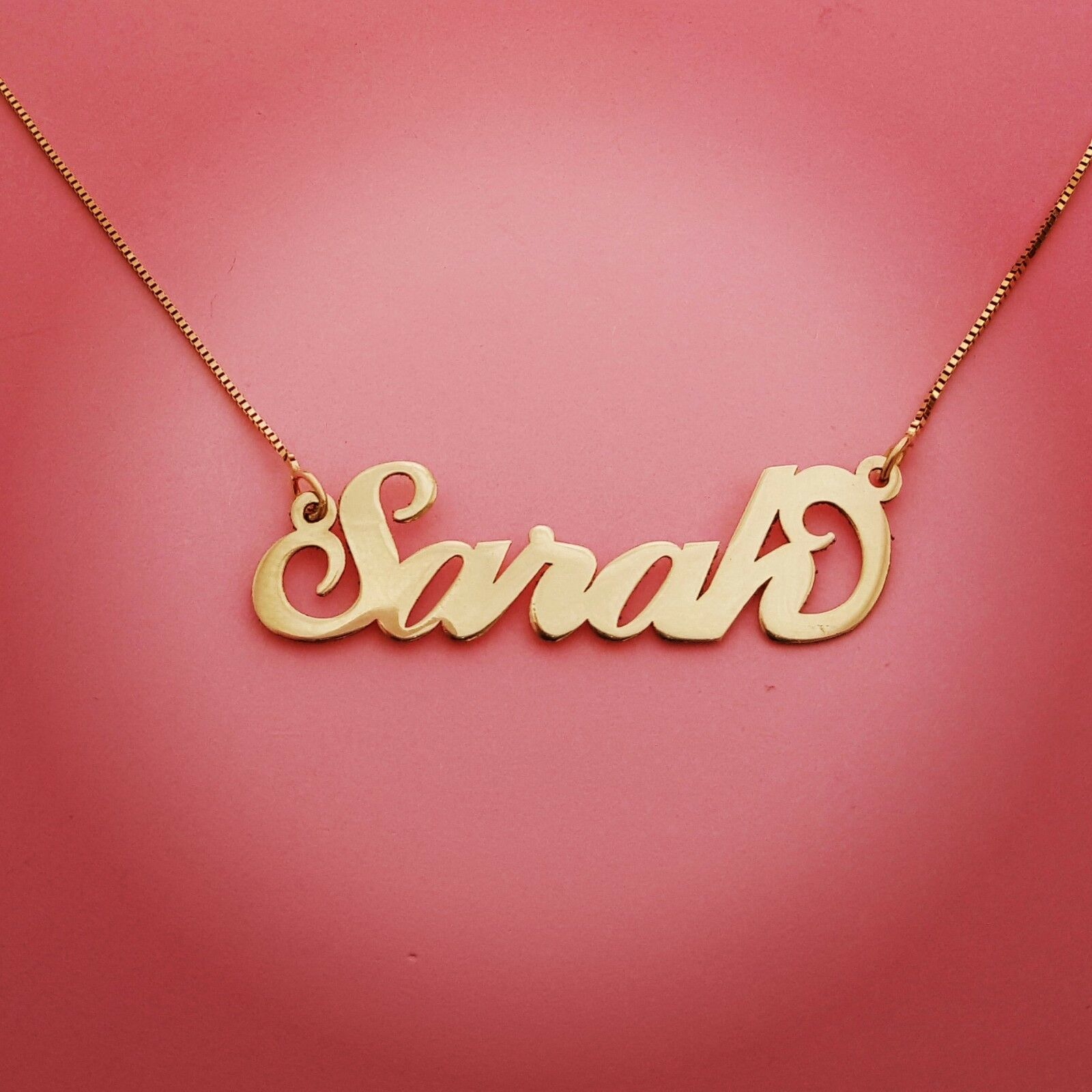 Christmas Gift  Order any name  Personalized Jewelry Solid read pure 14k gold