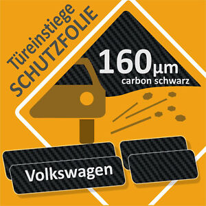 Einstiegsleisten-Lackschutzfolie-Kratzschutz-VW-ID3-ab-2020-Carbon-schwarz