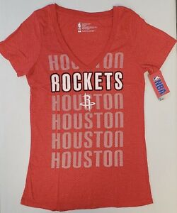 Houston-Rockets-Women-039-s-Short-Sleeve-Mesh-Burnout-T-Shirt-SZ-Medium-NWT