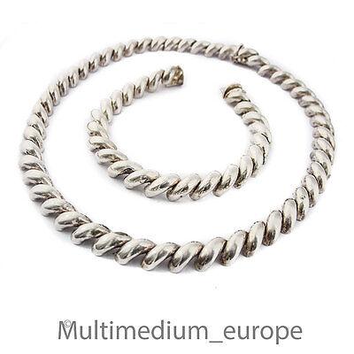 Brillant Art Deco Silber Collier Halskette Armband 50er 50s Silver Necklace Bracelet Set Weitere Rabatte üBerraschungen
