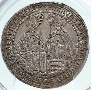 1699-1700-AUSTRIA-Salzburg-SAINT-RUPERT-VIRGIL-Silver-1-2-Taler-Coin-PCGS-i87244