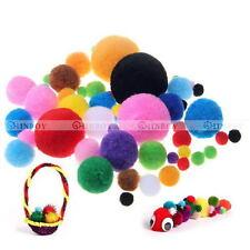 100pcs DIY Mixed Color Kid Craft Pom Poms Soft Fluffy Pompoms Balls
