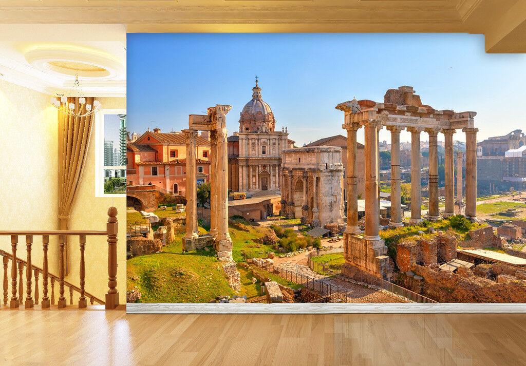 3D Roman Holiday 754 Wall Paper Murals Wall Print Wall Wallpaper Mural AU Kyra