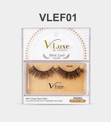 VLUXE by i ENVY MINK LASH INSPIRED RUBY 100/% VIRGIN RemyHair UseUpTo 25 times