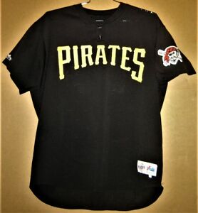 free shipping 85528 8bb58 Details about PITTSBURGH PIRATES #36 BLACK MESH PULLOVER BATTING PRACTICE  JERSEY