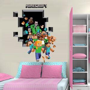 Large D Minecraft Wall Sticker Creeper Vinyl Nursery Decal Room - 3d minecraft wall decals