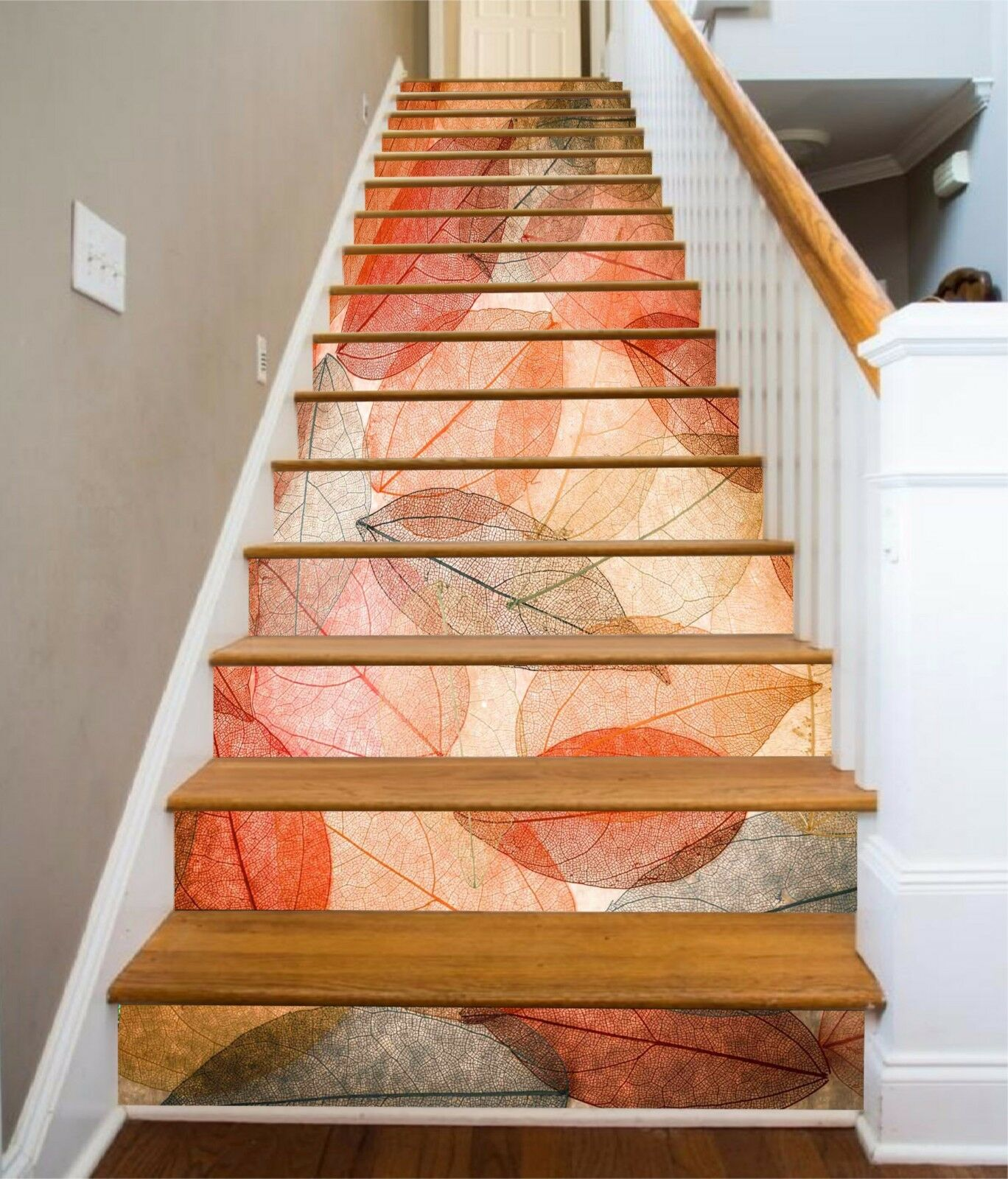 3D 3D 3D ROT leaves 355 Stair Risers Decoration Photo Mural Vinyl Decal Wallpaper UK d98ab4