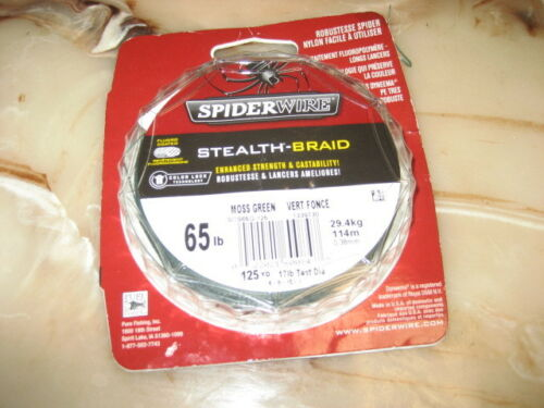 NEW SPIDERWIRE STEALTH-BRAID 65 LBS FISHING LINE 125YDS Free Shipping-USA