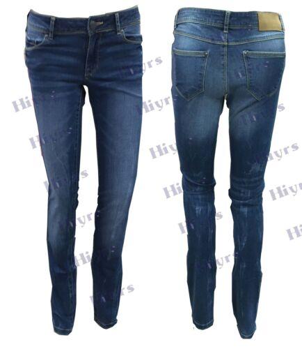 Jean Donna Skinny Strappato Jeans Elasticizzato Denim Jegging LOTTO Rasoio Taglio