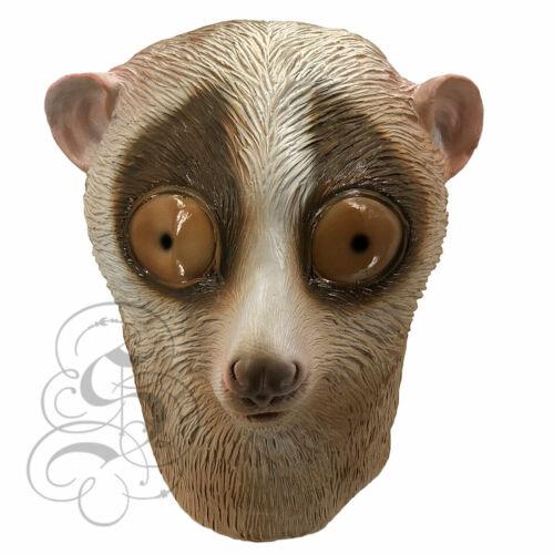 NUOVO Lattice Realistica Animale nycticebus Scimmia Fancy sostegni Party maschere