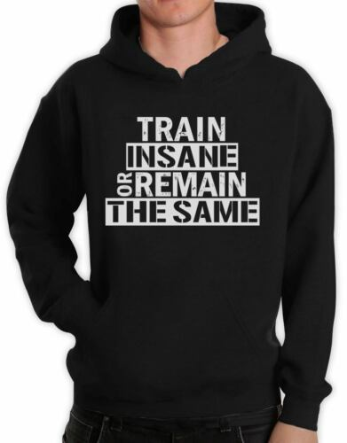 Train Insane Or Remain The Same Hoodie Workout Motivation Bodybuilding Gym