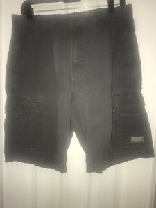 Wrangler-Cargo-Shorts-32-Mens-Gray-Cotton-Casual-Vintage-C9