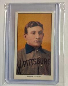 1909-11 T206 Honus Wagner Piedmont Back REPRINT Card w/ Sleeve & Top Loader
