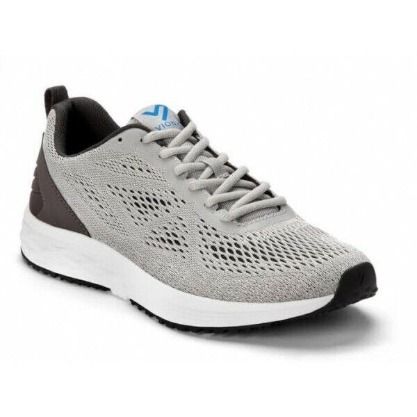 Nuevo VIONIC FULTON TATE Mens gris Activo Zapatillas Zapatos Envío Gratuito