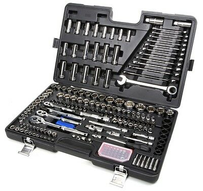 Halfords Advanced 200 Piece Socket & Ratchet Spanner Set Hand Tools