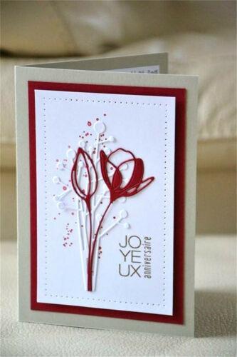 Stanzschablone Blume Blütenknospe Weihnachts Hochzeit Geburtstag Karte Album DIY