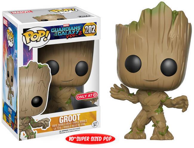 Funko Pop Vinyl Large Groot Bobble Head Guardians of the Galaxy Vol 2