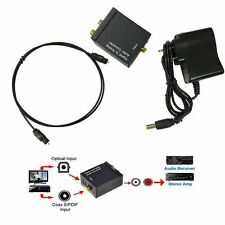 Digital Optical Coaxial Signal to Analog RCA L/R Stereo Audio Converter Adapter
