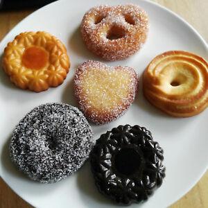 6-x-Attrappe-Kekse-Schokoladenkekse-Lebensmittelattrappe-Kunststoff-Dekokekse
