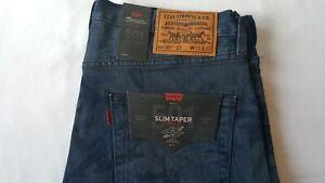 2349e9c3 Levi's x Justin Timberlake 501 Slim Taper Men's Jeans Black Camo NEW ...