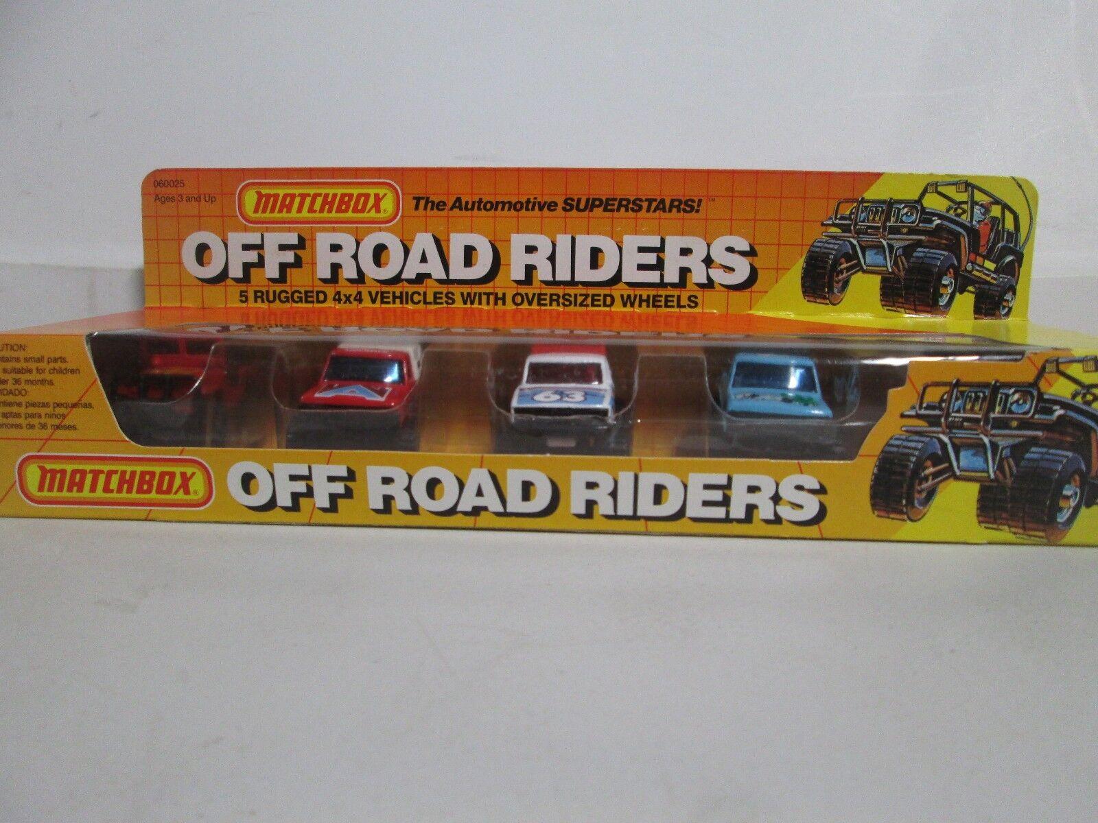 Matchbox Off Road Riders 5 vehículos 4x4 resistente con ruedas de gran tamaño
