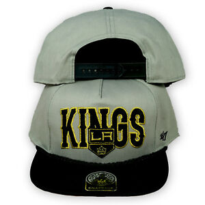 Original 47 Brand Los Angeles Kings Snapback Cap NHL Grau/Schwarz/Gold