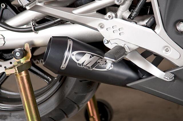 M4 Gp Black Stainless Steel Slip On Exhaust For 2009 2011 Kawasaki Ninja 650