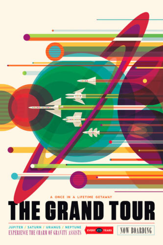 NASA  Space Tourism Travel Poster Planet Quest THE GRAND TOUR Reproduction