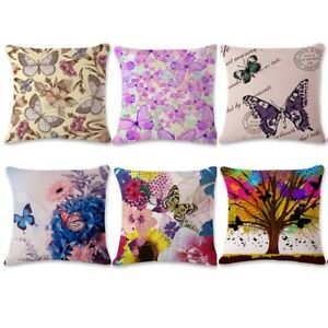 Scenery-Home-Decor-Butterfly-Linen-Pillowcase-Bedding-Throw-Cushion-Pillow-Cover