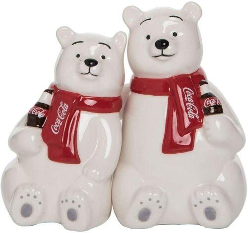 Coca Cola Polar Bear Buddies Salt /& Pepper Shakers New