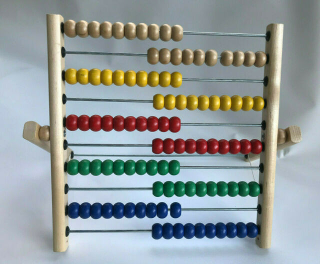 IKEA Abacus: Math Educational Toy, 100 Colored Beads, Wood ...