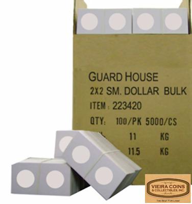 "25 Cardboard 2 x 2 Coin Holder Mylar Flips for US Small Dollar 26.5mm or 1.043/"""