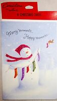 Hallmark 4 1/2 X 6 1/2 Merry Moments Cards W Envelopes - Lot Of 8