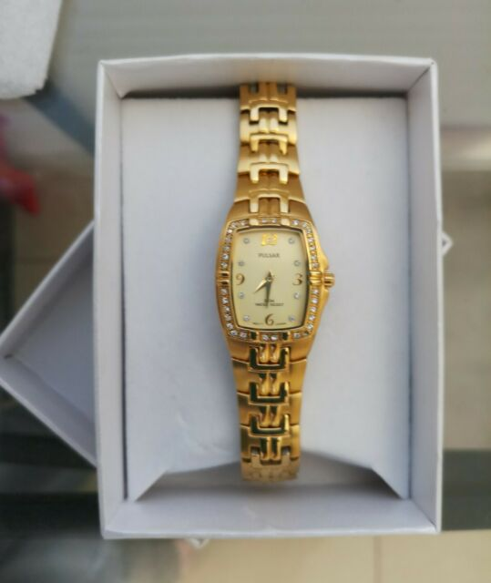 Pulsar Crystal Accent Gold Ladies Watch