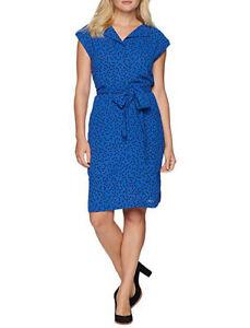 ceb14556a25 ANNE KLEIN $119 NEW 14846 Belted Dot-Print Shirtdress Womens Dress ...
