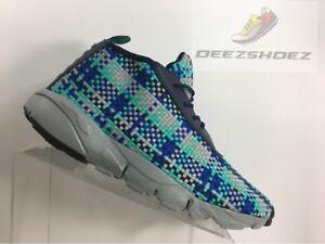 Nike-Air-Footscape-Desert-Chukka-Blue-Black-Teal-Greay-Men-039-s-size-10-5
