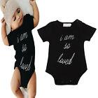 Newborn Toddler Baby Kid Boy Girl Cotton Romper Jumpsuit Bodysuit Clothes Outfit