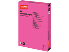 500 SHEETS / 1 REAM A4 NEON PINK COLOURED PAPER 80 GSM + FREE 24H DEL