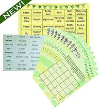 Baby Shower Bingo - Premium Party Game- Neutral Boy/Girl- 20 Players - Lil'Tinka