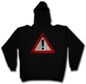 WARNING SIGN HOODIE Symbol Logo Caution Danger Biohazard Wanrschild Warnung