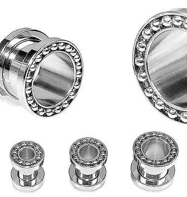B24 Piercing Plug 5//6//8//10//12mm Kugellager Flesh Tunnel Edelstahl Schraubgewinde