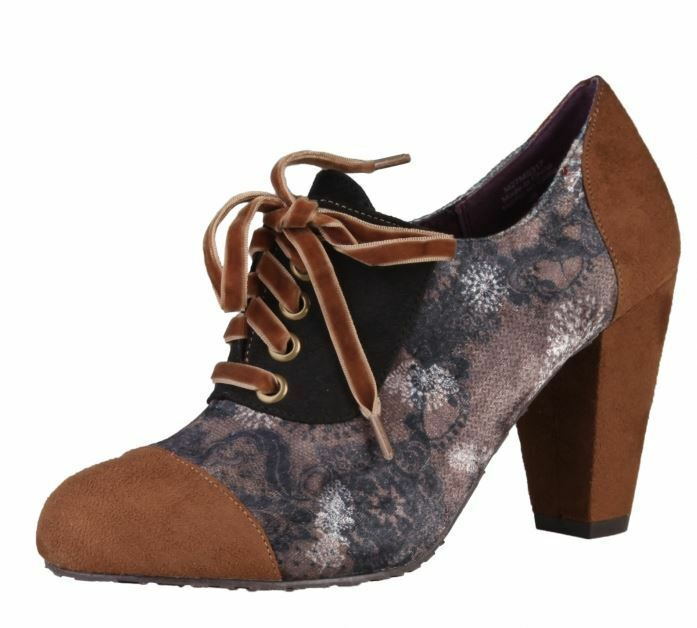 Desigual scarpe scarpe shoes da ginnastica alte pelle shoes scarpe Donna Marrone fantasia Sera Elegance 964b05