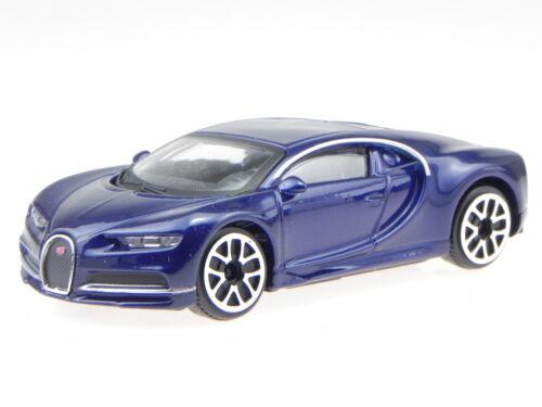 Bugatti Chiron dunkel blau Modellauto 30348 Bburago 1:43