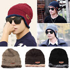 Men Women Knit Wool Crochet Baggy Beanie Cap Winter Warm Hip hop Ski Hats Unisex